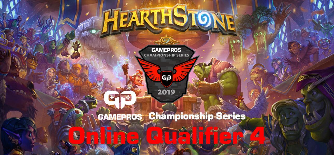 GamePros Hearthstone Championship Series 2019 - Online Qualifier 4 Banner